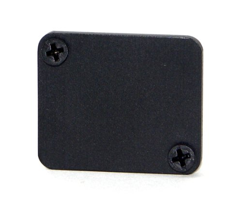 Switchcraft ECPPKG EH Series Mounting Hole Cover, 1 Space, Bagged With 4-40 Screws, Black Finish