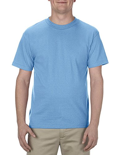 Alstyle Apparel AAA Men's Classic Cotton Short Sleeve T-shirt, Carolina Blue, Large