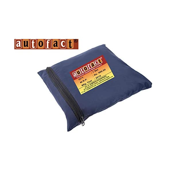 Autofact Bike Body Cover For Royal Enfield Classic 500 Desert Storm With Storage Pouch 210d Polyster Fabric 100 Waterproof Quality Navy Blue