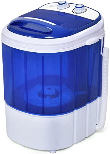 Costway Mini Washing Machine Small Compact Washer 7lbs Capacity Blue