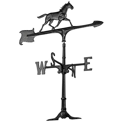 Whitehall Products Horse Accent Weathervane, 30-Inch, Black