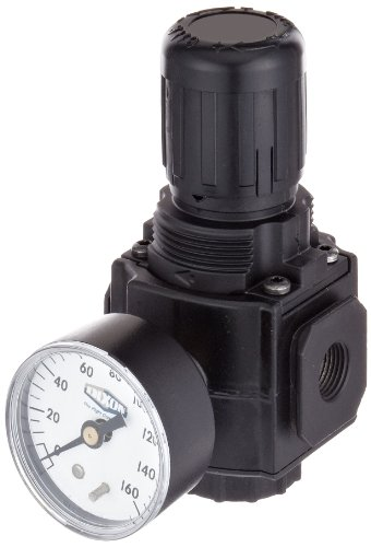 "Dixon R73G-3RG Norgren Series Regulator with Gauge, 3/8"" Size, 144 SCFM, 3/8"" Port Size, 5-150 PSI"