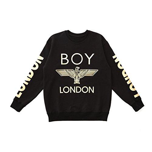 London Printed On Sleeves Sweatshirt -Black New_(BG3TL005) (Black, Small) by BOY London