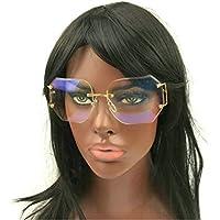 mincl/caliente Oversized Rimless Lentes Transparentes anteojos de sol mujer anteojos