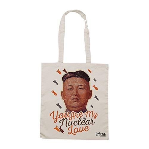 Borsa KIM JONG-UN YOU ARE MY NUCLEAR LOVE POLITICS - Sand - POLITICA by Mush Dress Your Style