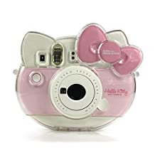 [Fujifilm Hello Kitty Instant Camera Case] -- CAIUL Transparent Comprehensive Protection Fujifilm Instax Mini Hello Kitty Instant Film Camera Case Bag With PVC Material [Ever Ready Design]