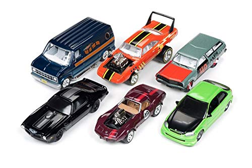 Johnny Lightning Street Freaks 2018 Release 3 Set B Diecast Car Set - Box of 6 Assorted 1/64 Scale Diecast Model Cars