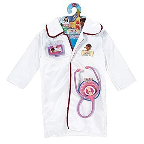 Disney Doc McStuffins Dress Up Doctor Coat Costume Set by Just Play (Doctor Outfit)