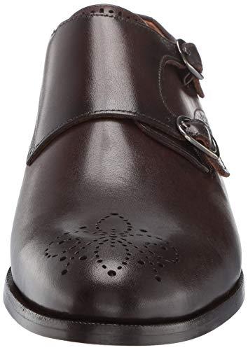 MARC JOSEPH NEW YORK Mens Leather Double Monk Wingtip Dress Shoe Oxford