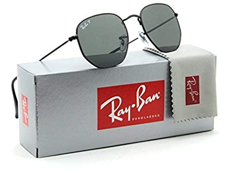 8f2716ab32b8 Ray-Ban RB3548N Hexagonal Flat Lenses Polarized Sunglasses Black 002 58 -  51  Amazon.co.uk  Clothing