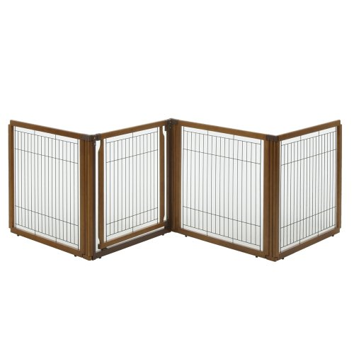 Freestanding 4 Panel Gate (Richell 3-in-1 Convertible Elite Pet Gate, 4-Panel)