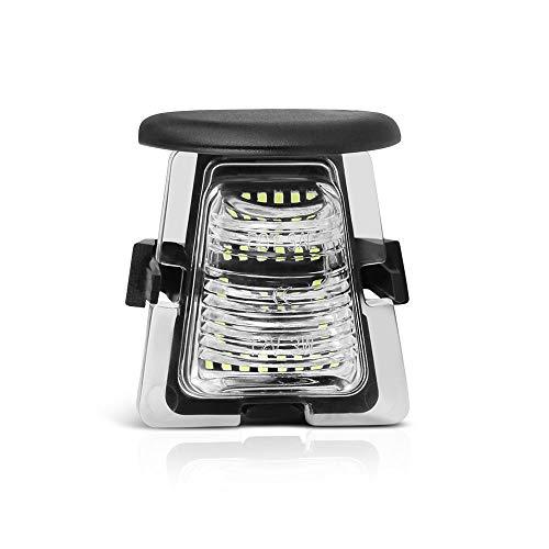 - VIPMOTOZ Full LED License Plate Light Lamp Assembly Replacement For 2007-2018 Jeep JK Wrangler, 6000K Diamond White