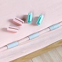Rack Jack Bedsheet Mattress Slip-Resistant Clip Holders - Set of 6 - Pink and White