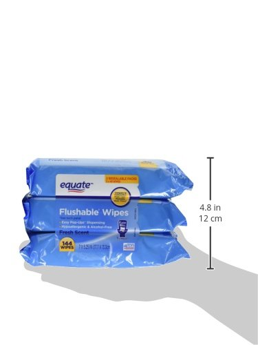 Equate Flushable Wipes 6-Pack (288 Wipes Total)  by Equate