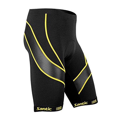 Santic Men's Cycling Shorts Biking Bicycle Bike Pants Half Pants 3D Coolmax Padded Bike Shorts (Best Priced Road Bikes)