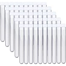 Joyclub Clear Plastic Test Tubes with Caps for Scientific Experiments, Halloween, Christamas, Scientific Themed Kids Birthday Party Supplies, Decorate The House, Candy Storage