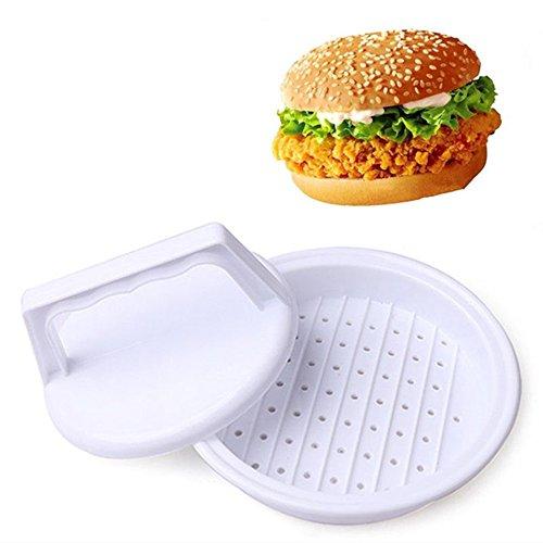 DIY White Plastic Stuffed Burger Press Hamburger Patties Maker Beef Mould Meat Press Grill Patty Mold Kitchen BBQ Tool