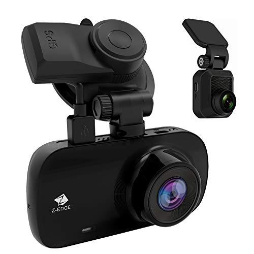 Z-Edge Z3D Dual Lens Dash Cam, 2.7
