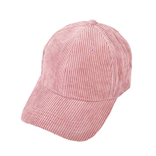 Kelly Bro Solid Color Baseball Cap Corduroy Vintage Classic Adjustable Pink ()