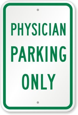 Parking Only Sign Aluminum Top - 8