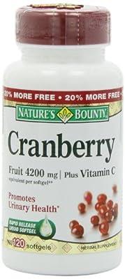 Nature's Bounty Cranberry Fruit 4200 mg, 100 Softgels