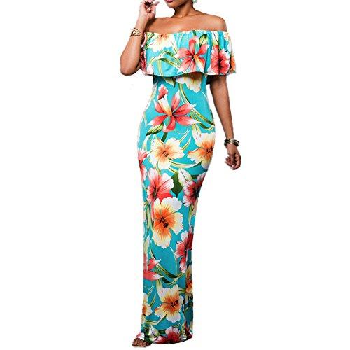 Buy 1 shoulder maxi dress - 9