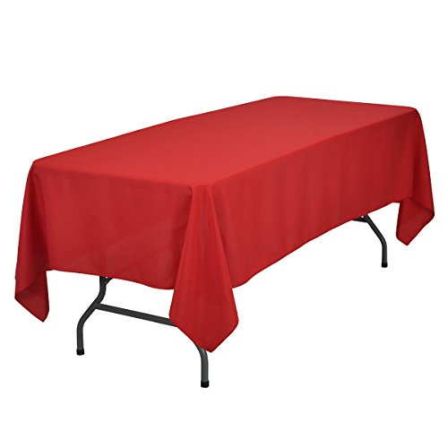 Remedios 70 x 120-inch Rectangle Polyester Tablecloth - for Wedding, Party, Restaurant, or Banquet use, Red