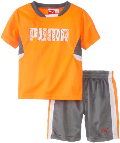 (PUMA   Kids Baby Boys' Shatter Set, Shocking Orange, 18 Months)