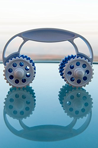 Azaria Handheld Massage Roller - Manual 8 Wheel Massager - Acupressure for the Whole Body: Arms, Legs, Neck, Back, Butt & Thighs - For Muscle Relaxation, Stress & Pain Relief