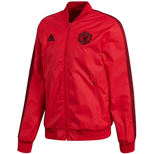 (adidas 2019-20 Manchester United Anthem Jacket - Red L)