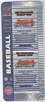 Bowman Chrome 1997 Factory Sealed Pack (2 pieces) - Possible Halladay Rookie Card from Bowman Chrome