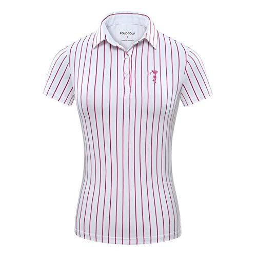 HWTP Camisa de Golf: Camiseta a Rayas de Moda, poliéster, Polo ...