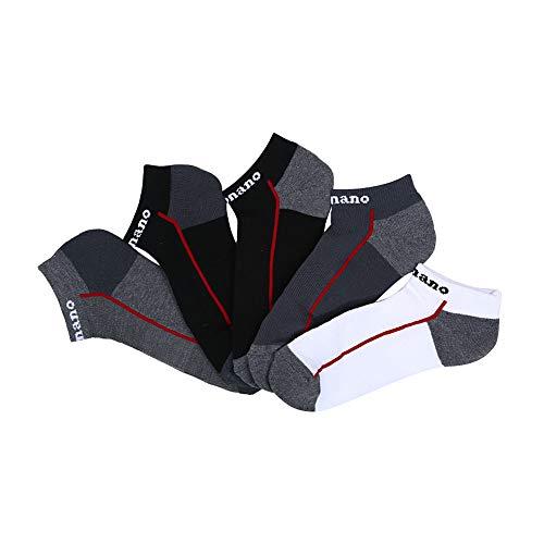 Aaronano Mens Athletic Running Socks on sale clearance(5 Pairs,5 Bundles Sorted,Size 6-10).