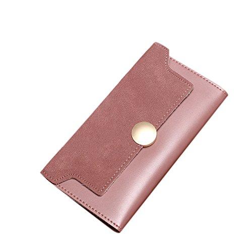 Frauen Trifold PU Leder Lady Handtasche Geldbörse Knopf Karte Kupplungsscheiben Fall Ecke Tasche Matting Handtasche Weihnachten Geschenke Rose Schwarz 6qxkQr