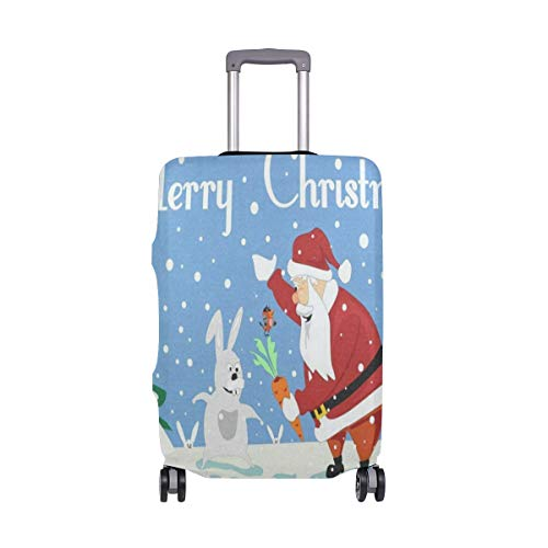 (Luggage Cover Christmas Santa Claus Travel Case Suitcase Bag Protector 3D Print Design)
