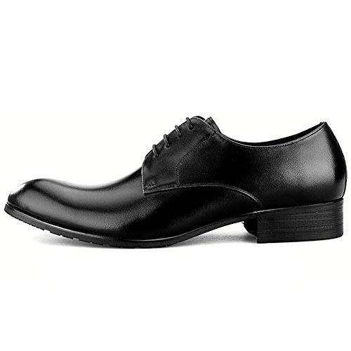 Scarpe Da Uomo In Pelle Casual Dress Autunno Business Wedding Moda Slip On Marrone-nero C
