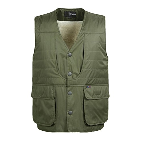 Traveling deportiva Vest Verde Button Photography Fishing Ropa Mens Outdoor Size Jacket XL Winter 5XL Zhhlaixing Thicken Camping Hombre Chalecos Sportswear H8tOP