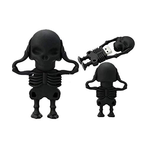 (Alimao 64GB USB 2.0 Flash Drive Novelty Skull Skeleton Shape Pen Drive Flash Disk Gift)