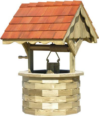 (LuxCraft Garden 5' Wishing Well with Cedar Roof)