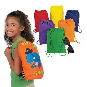 Design Your Own Colorful Drawstring Backpacks - Crafts for Kids & Design Your Own