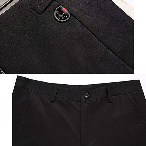 Chándal Negocios Sencillo Regular Para De Hombres Battercake Cuidado Pantalones Trabajo Chinos Traje Schwarz Cómodo czf7ZZgE