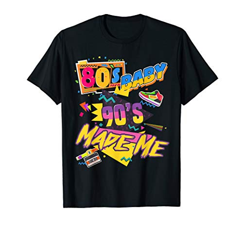 Vintage 80s Baby 90s Made Me Costume Party Gift  T-Shirt -