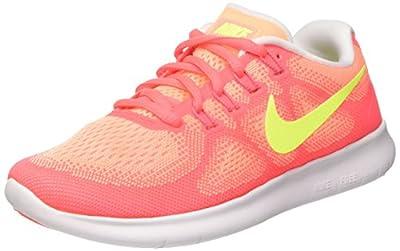 Nike Women's Free RN 2017 Sunset Glow/Volt-Hot Punch 880840-800 Shoe 8 M US Women