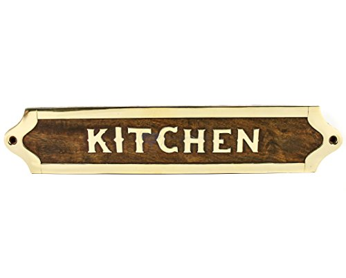 Nagina International Kitchen's Handcrafted Wooden Designation & Title Name Plate   Nautical Wood Plaque & Door Sign   Captain's Maritime Nursery Home Wall Decor