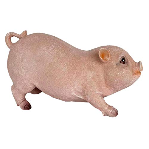 (B Blesiya Pig Figurine Garden Sculptures and Statues Resin Animal Model for Outdoor Decor, Garden Yard Ornament DIY Landscaping Supplies - Pink Sitting Pig)