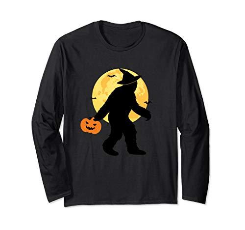 Bigfoot Witch Halloween Costume Long Sleeve Shirt