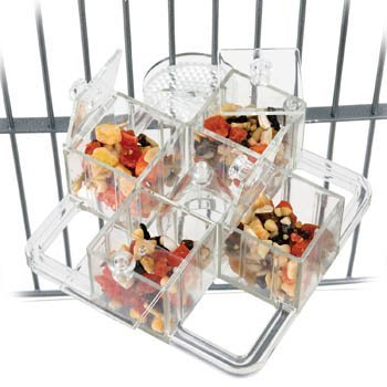Creative Foraging Systems Foraging Carousel, 6-Inch W by 6-Inch L by Caitec Corp