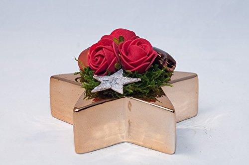 Centrotavola Natalizi Amazon.Centrotavola Natalizio Con Rose Rosse Arredamento Floreale Con