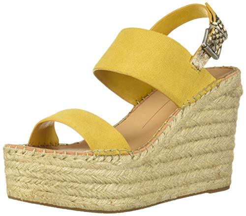 Dolce Vita Women's Spiro Wedge Sandal Honey Suede 9 M US ()
