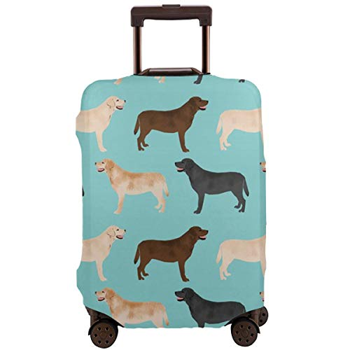 - Cute Labradors Yellow Chocolate Black Lab Pet Dogs Fine Production! Travel Luggage Cover Anti-scratch Baggage Suitcase Protector Cover Fits 18 20 24 26 28 32,Dust-proof Trolley Case,Trolley Decoration